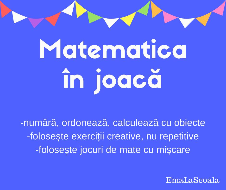 Matematica in joaca