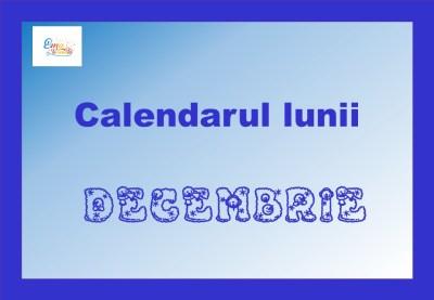 calendarul lunii decembrie