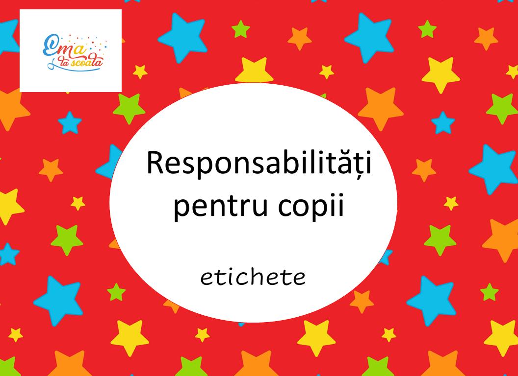 responsabilitati pentru copii
