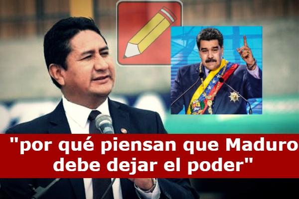 """Vladimir Cerrón """"No se por qué piensan que Maduro debe dejar el poder"""" -  EMA Noticias"""