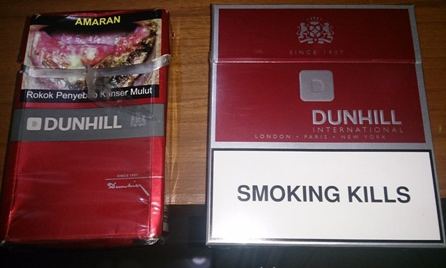 Wordless Wednesday : Amaran Merokok Dunhill