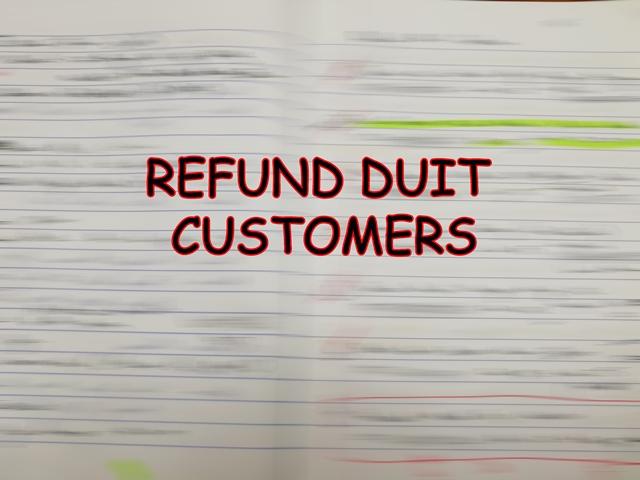 Refund Duit Pelanggan