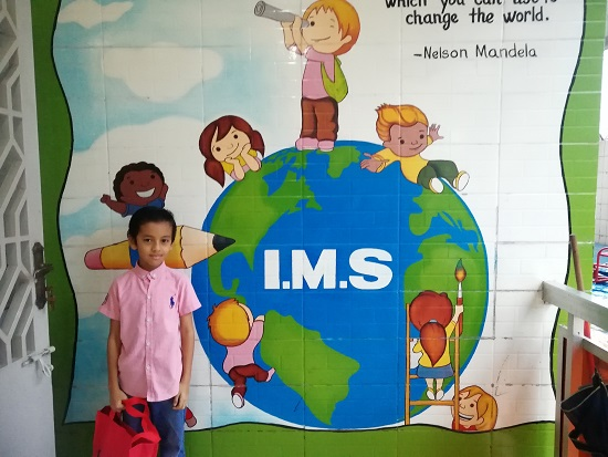 Aqeel First Day at International School