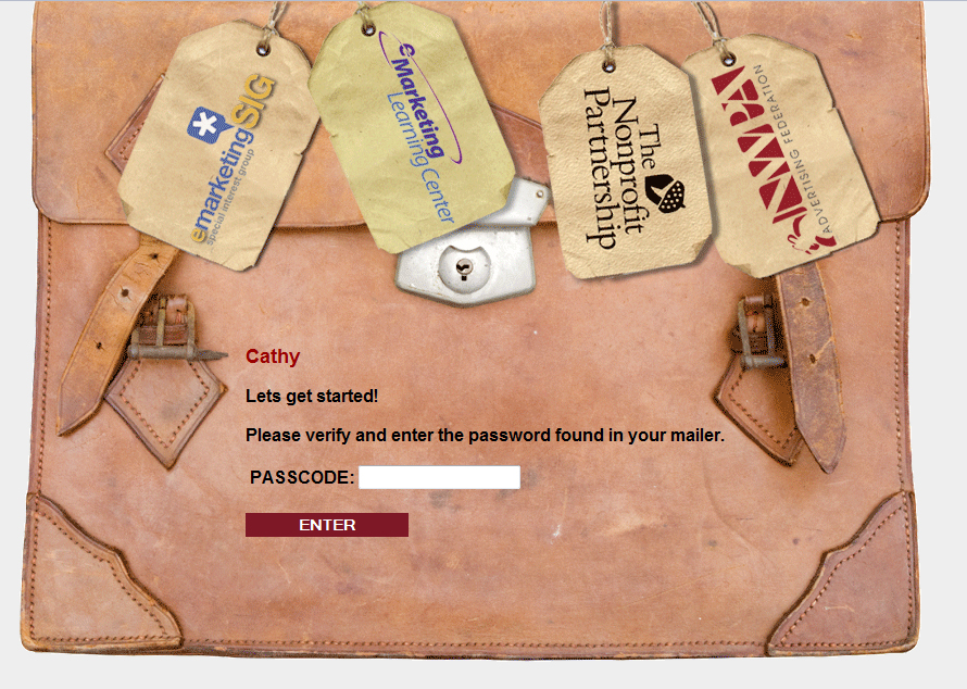 An example of what a Login Page would look like