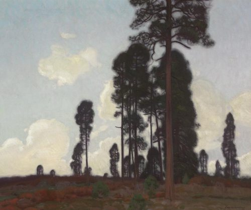 """Ernest Martin Hennings, Towering Pine, Circa 1915, Oil on Canvas, 25"""" x 30"""""""