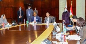 رئيس البريد المصري يستقبل وامكيلي ميني