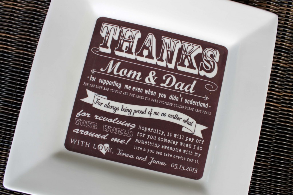 Wedding Thank You Gift Ideas For Parents