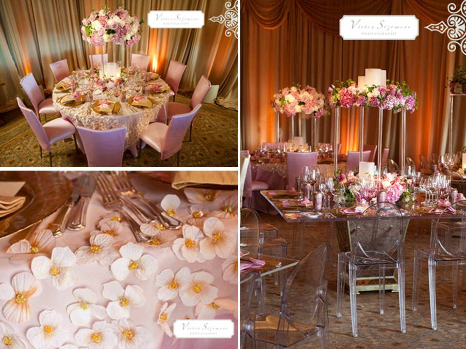 Pink Gold And Cream Wedding