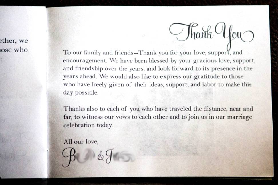 Parents Thank You Wedding Gift