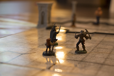 Three miniatures for role-playing game