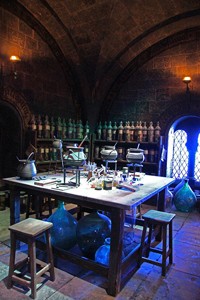 Potions classroom set from making of Harry Potter