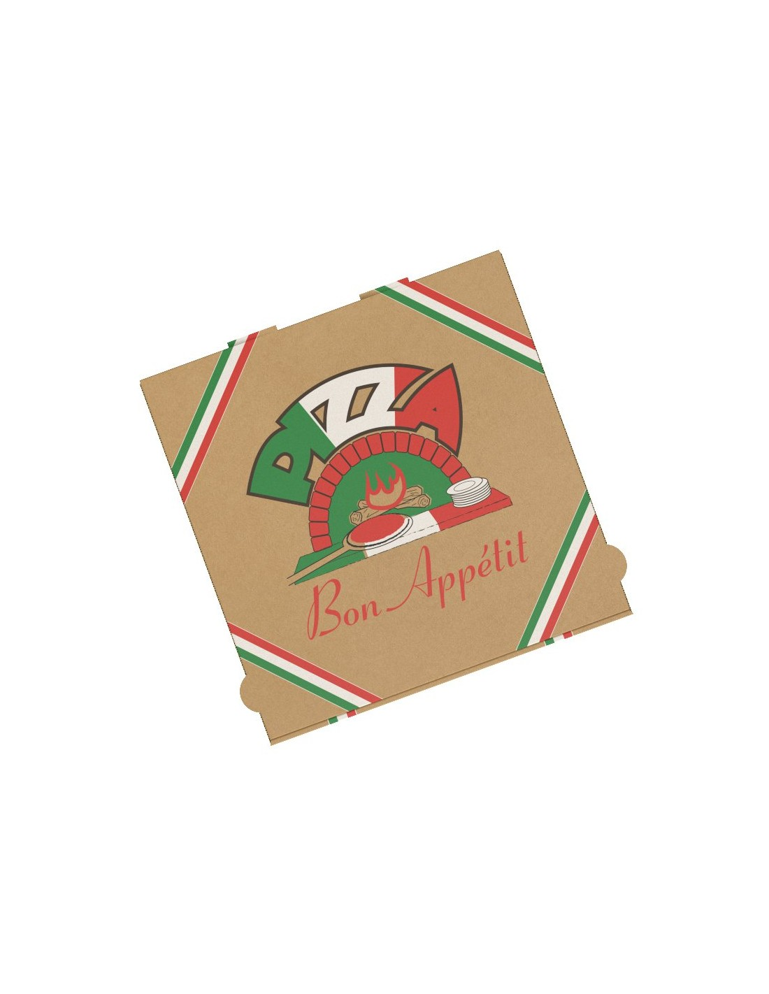 boites pizza en kraft brun decoree pour vente a emporter et livraison couleur exterieure kraft brun matiere carton colisage 100 emballage decore oui