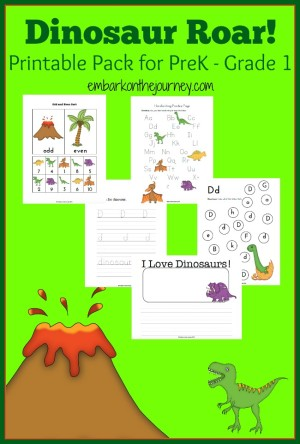 Dinosaur Printable And Activity Round Up