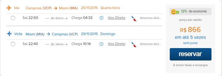 PROMOÇÃO BLACK FRIDAY: passagens para Miami por R$866,00
