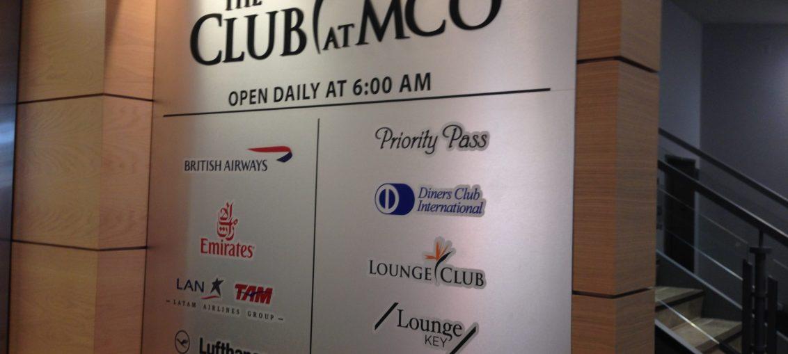 Sala Vip The Club no Aeroporto de Orlando