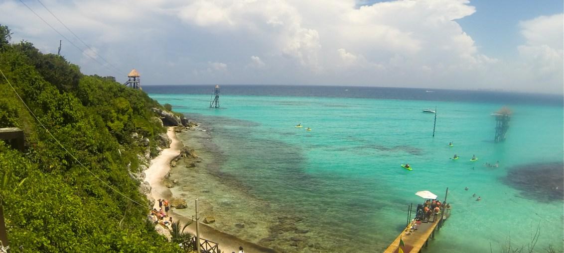 Parque Garrafón em Cancun, Mexico