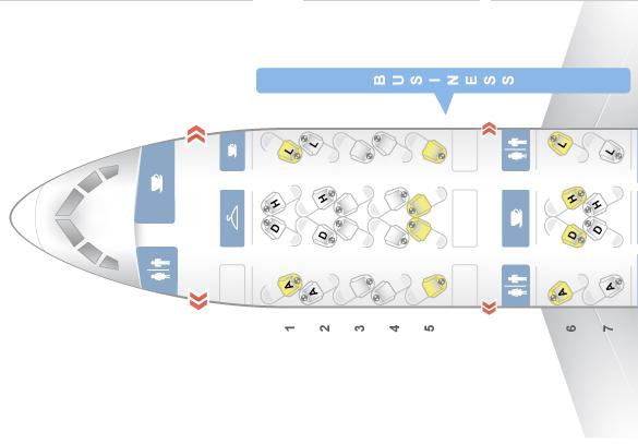 Classe executiva da American Airlines de Los Angeles para São Paulo