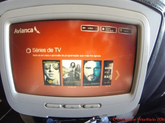 Classe executiva da Avianca de São Paulo para Lima