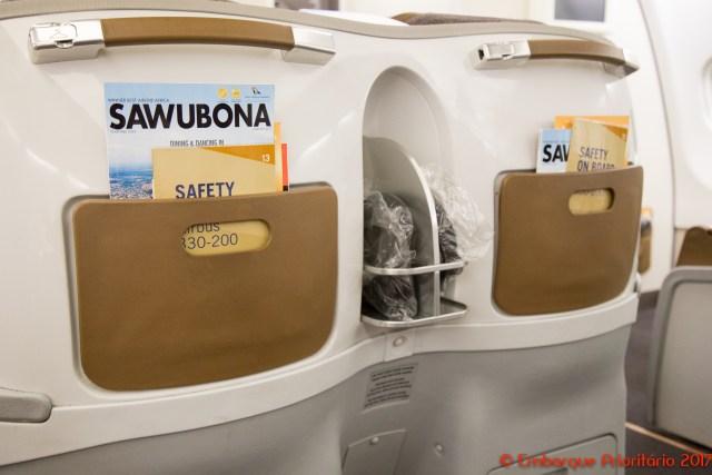 Classe executiva da South African Airways de São Paulo para Johannesburgo