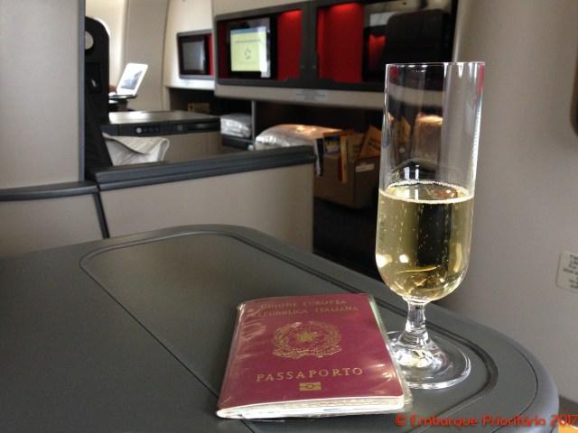 Classe executiva da South African Airways de Joanesburgo para São Paulo