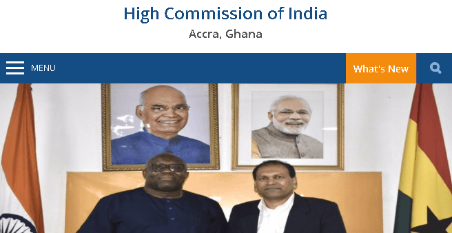 Indian Embassy In Ghana : Location, Contacts, Indian High Commissioner
