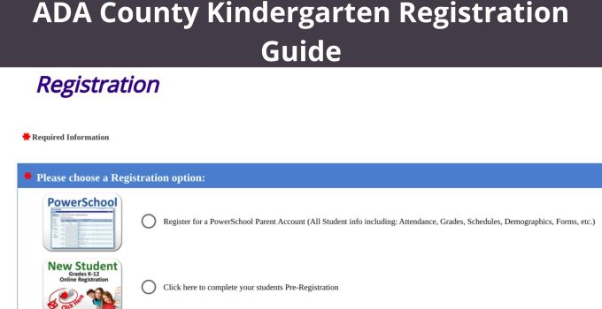 ADA County Kindergarten Registration Guide