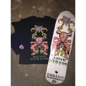 Embassy Skateboards, John Gibson Swag Bag