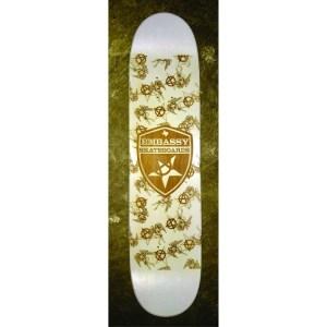 Engraved Embassy Skateboards deck