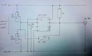 LM311P circuit  connections, wiring and diagram  EmbDev