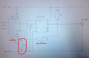 LM311P circuit  connections, wiring and diagram  EmbDev