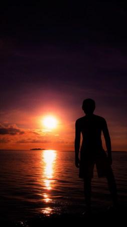 Sunset. Fotographer : Rangga, Model Siluet : Dimas