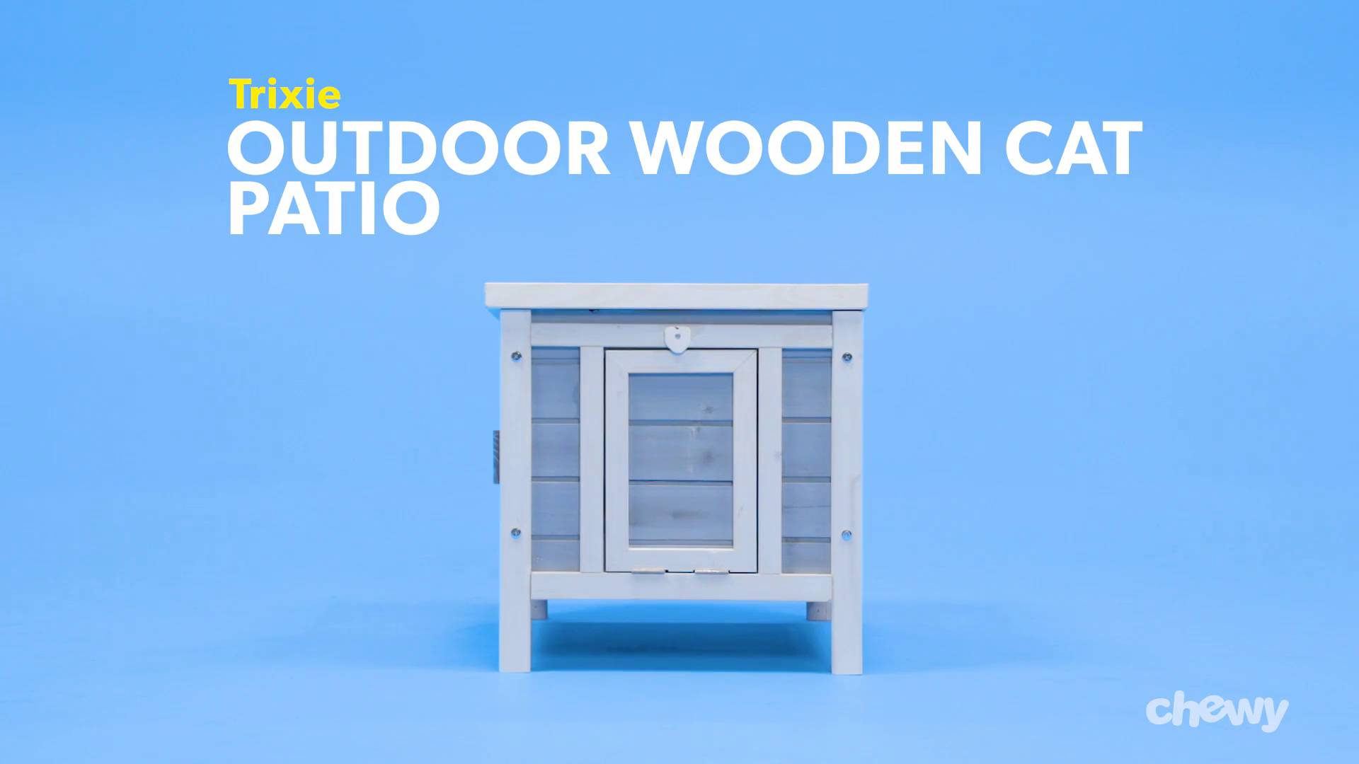 trixie outdoor wooden cat house