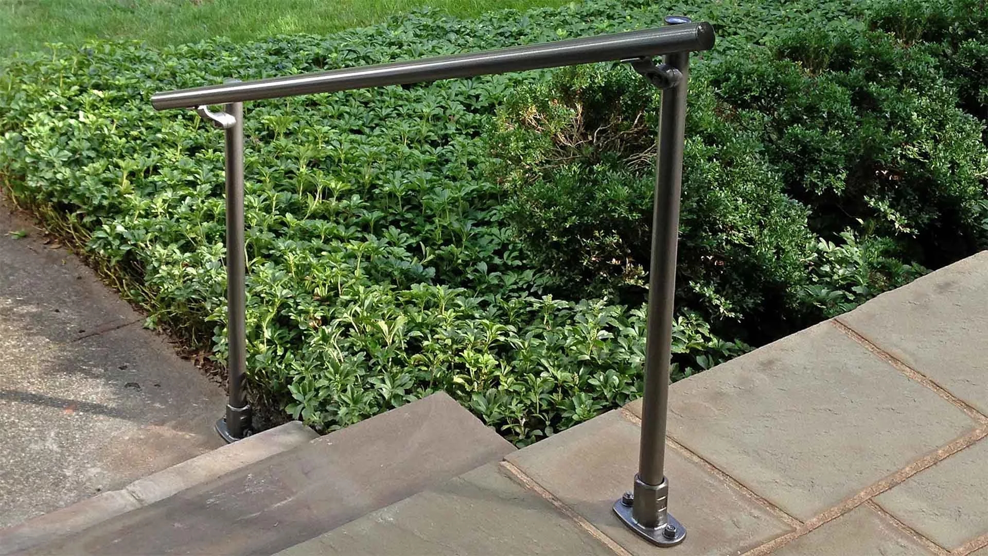 Outdoor Stair Railing Kit Buy Step Handrail Online Simplified   Outside Metal Railings For Steps   Galvanized Iron   Wrought Iron Staircase Used   Decorative Iron Stair Rail Support   Steel Railing   Mixed