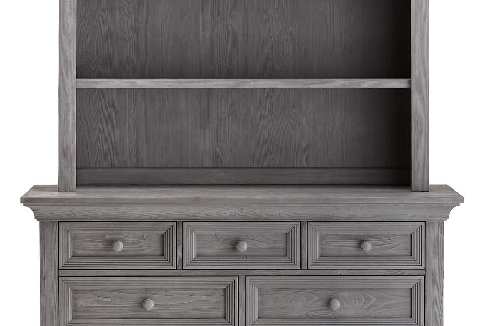westport light gray dresser hutch