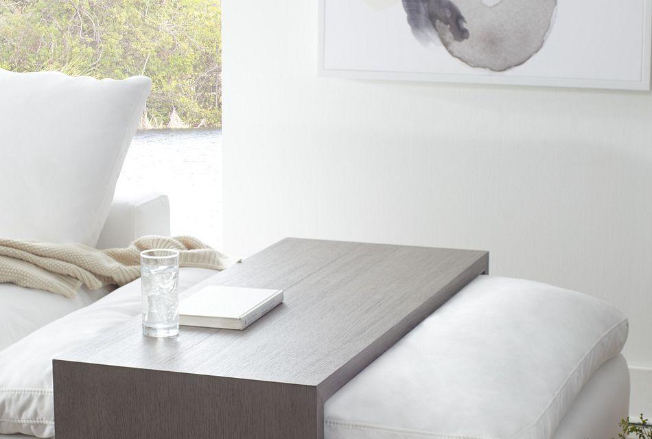 nixon light tone ottoman table