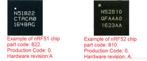 How to know the IC revision number of an nRF5x SoC
