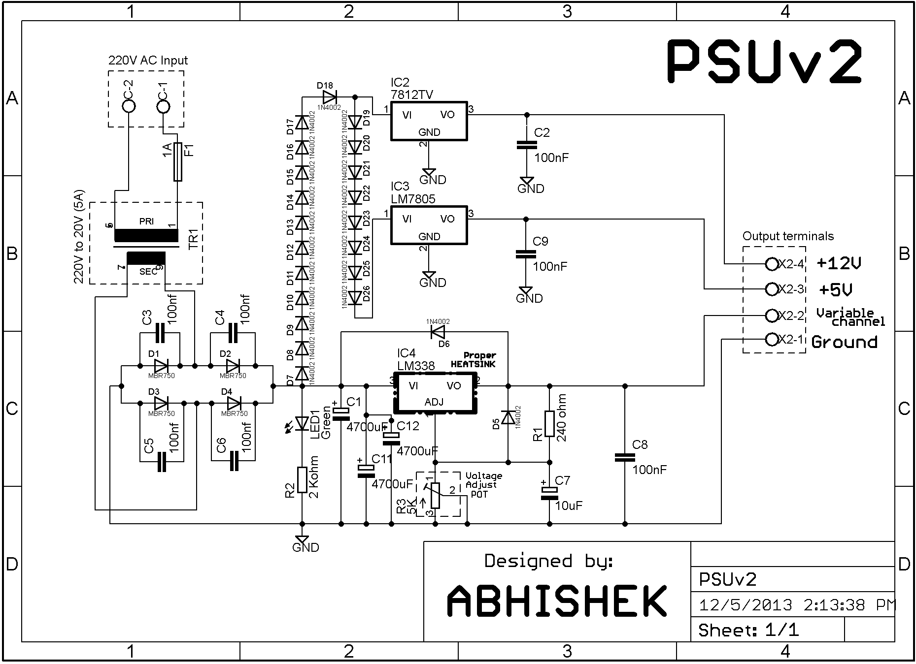 Variable Bench Power Supply V2