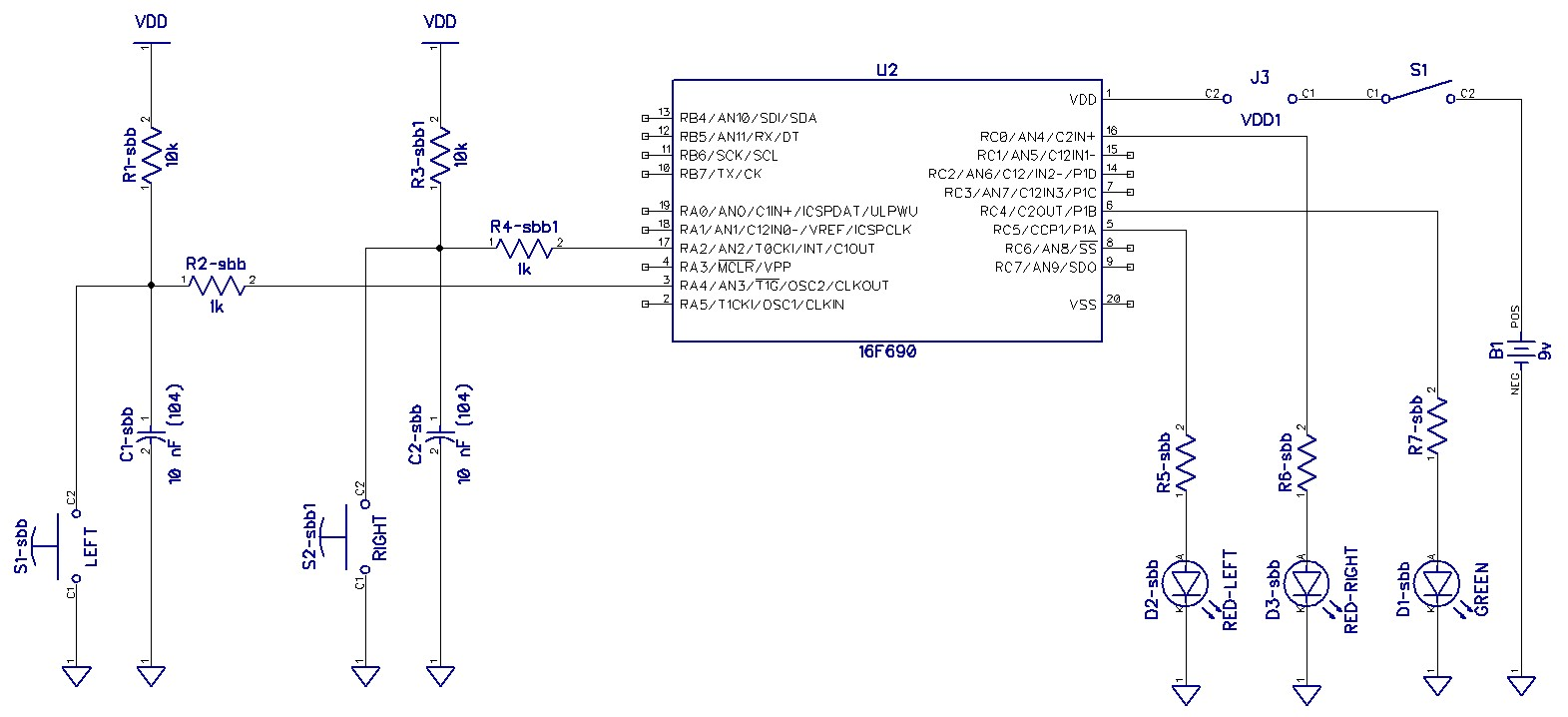 Lab4 Debounce Embedded Systems Switch Circuit Here Is The A Photo Of Breadboard