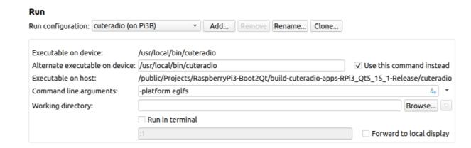 QtCreator Run Settings