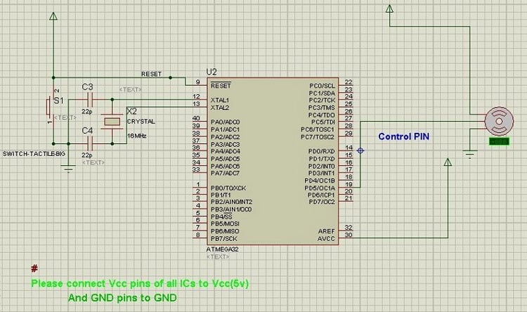 Controlling servo motor with AVR - Embedds