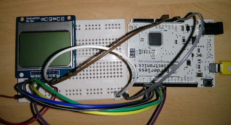 Interfacing Nokia 5110 graphical LCD to Arduino