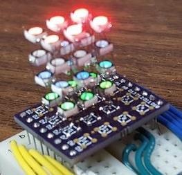 Tiny RGB LED cube