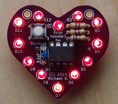 Quick LED heart project for Valentines day