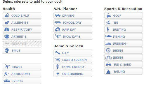 accuweather forecasting options