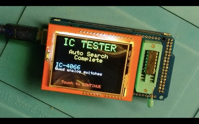 An Arduino based IC tester with smart touch