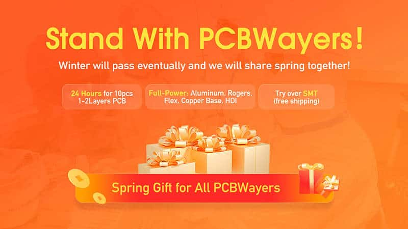 PCBWay spring gifts