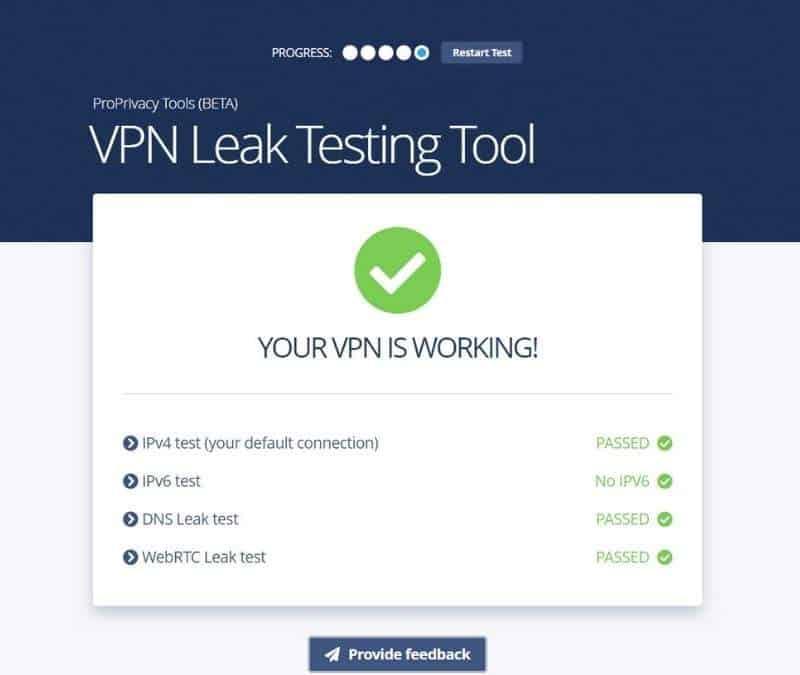 VPN leaks testing tool