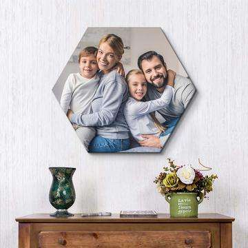hexagon image print