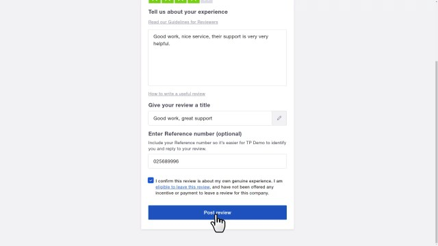 Write a review. Step 15: tell us about your experience