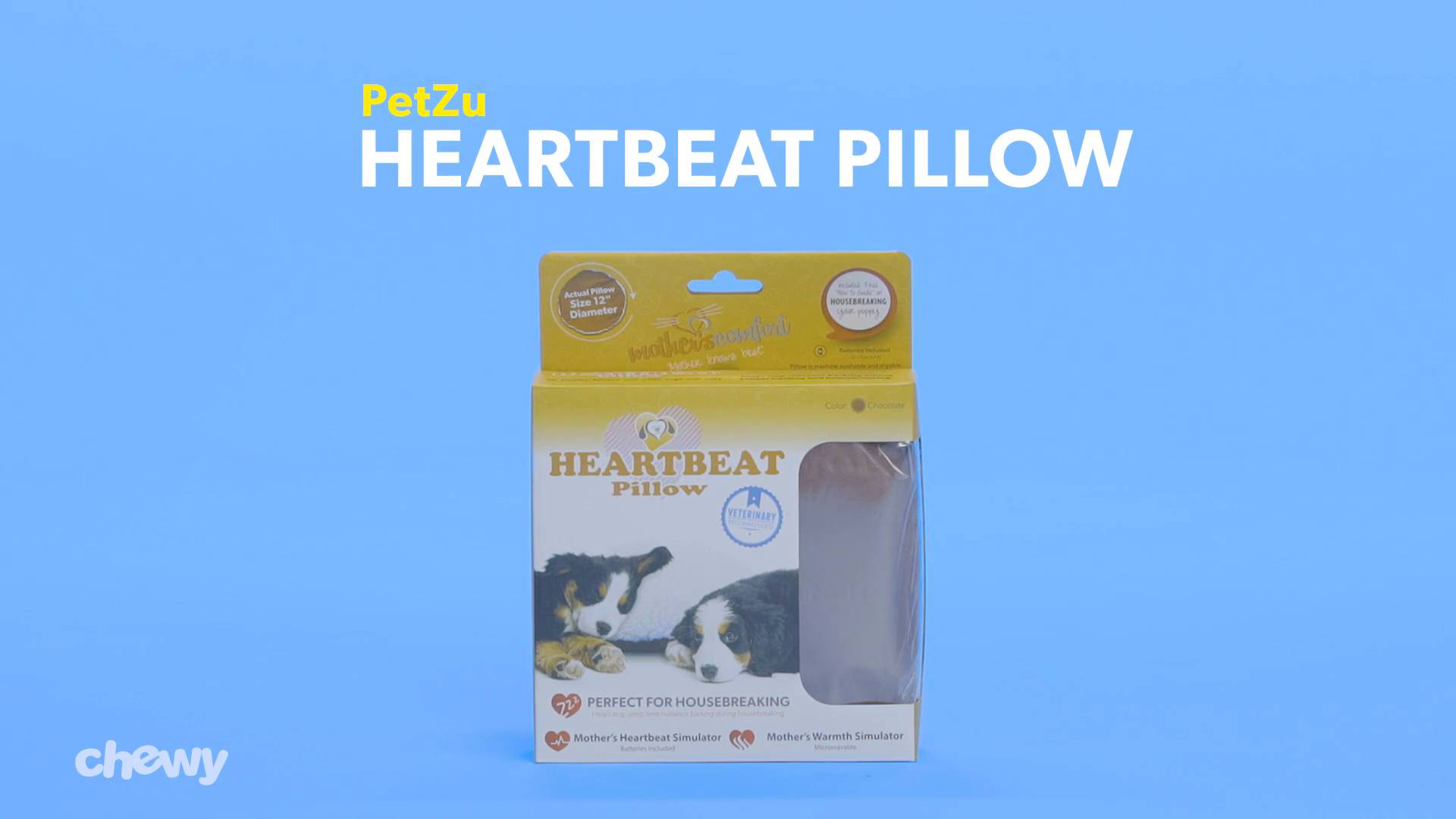 petzu heartbeat dog pillow